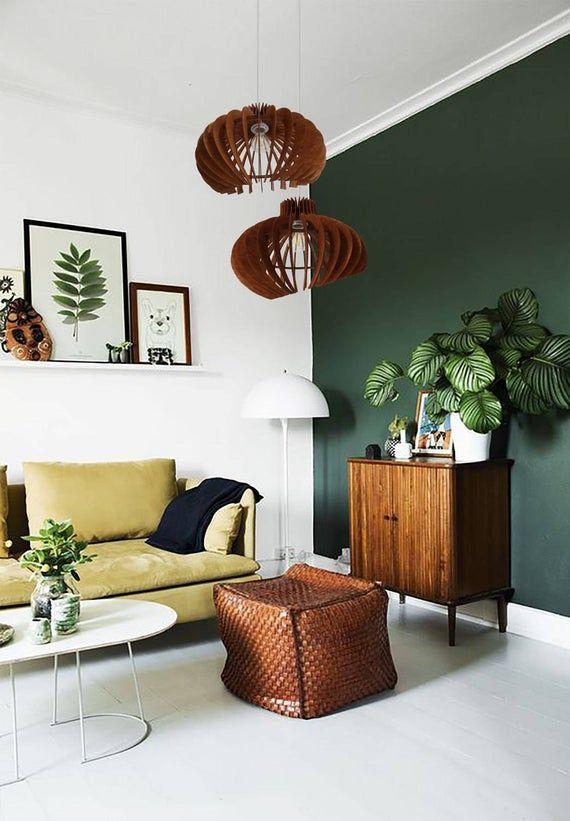 Le curve _ legno luce - Lampadario moderno illuminazione - pranzo lampada a sospensione - lampada da soffitto - geometrica lampada a sospensione - Minimal