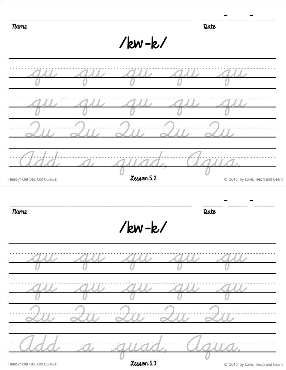 Great cursive worksheet with phonograms! Cursive