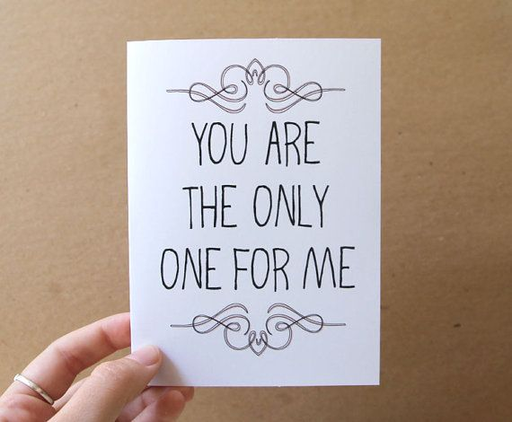 Romantic Valentine Card You Are The Only One For Me Valentine S