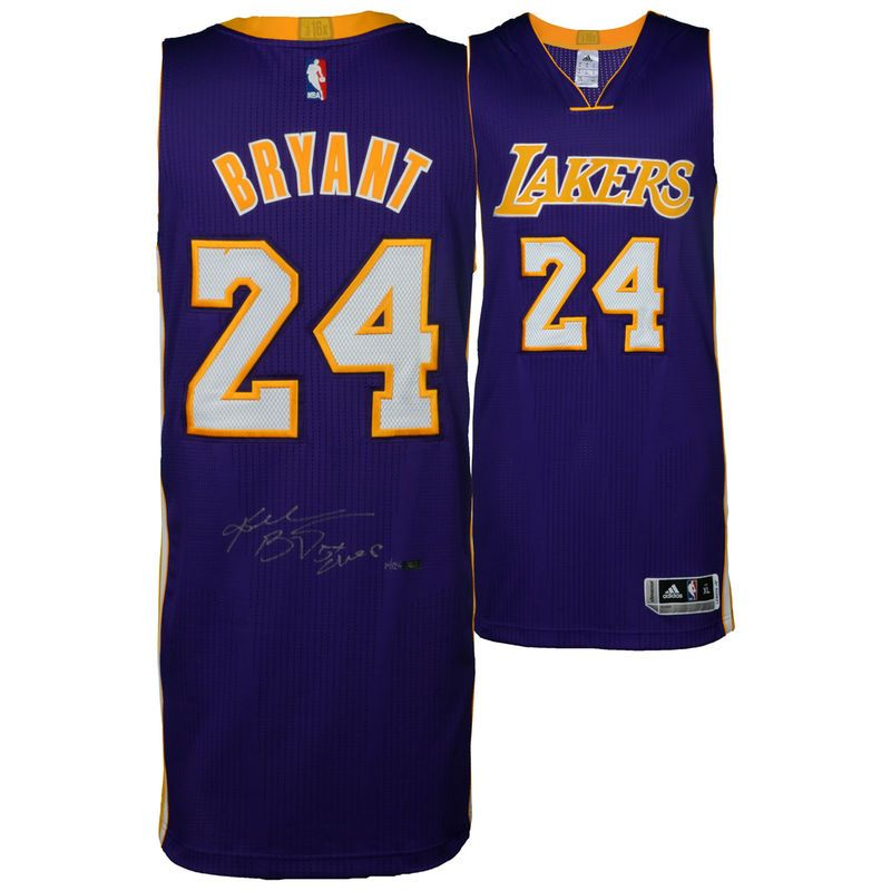 Kobe Bryant Los Angeles Lakers Autographed Purple Authentic Jersey with 5X  Champ Inscription - Limited Edition 960d88d32