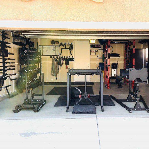 Top 75 Best Garage Gym Ideas Home Fitness Center Designs Home Gym Design Gym Room At Home Home Gym Basement