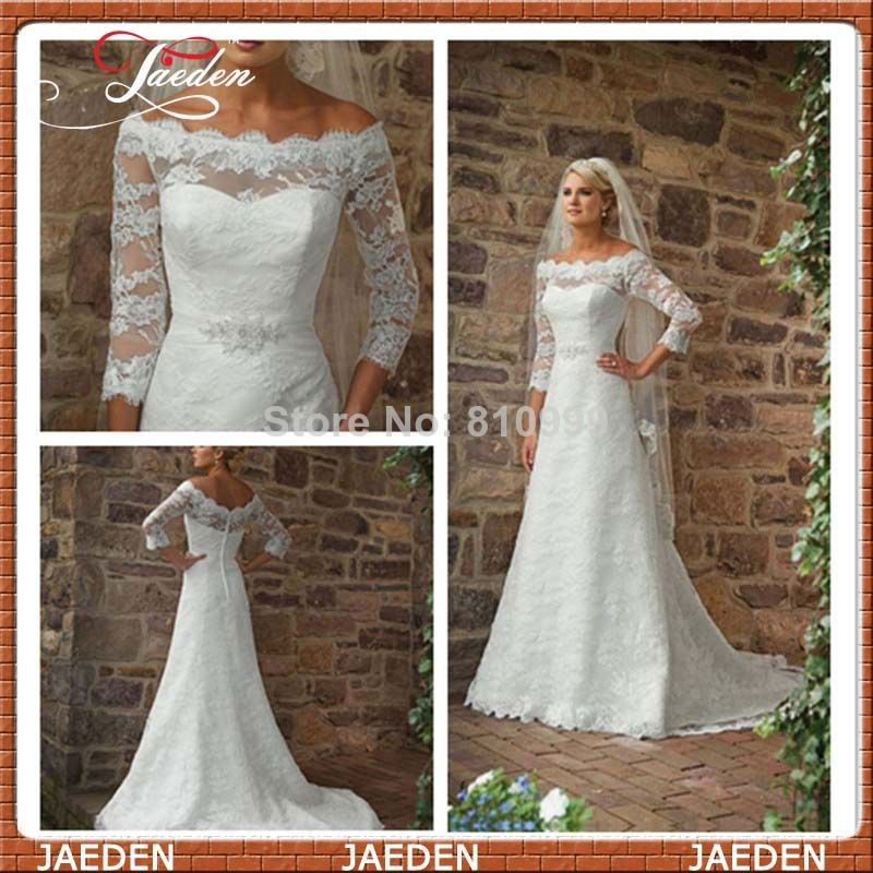 PW184 Free Shipping Vintage Lace Beach Wedding Dress 2014 Off ...