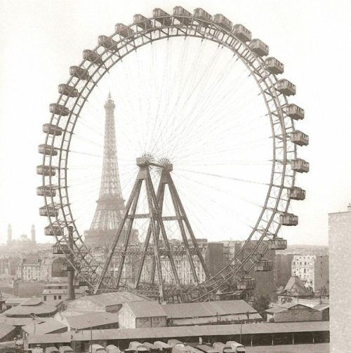 POSTER LA GRANDE ROUE PARIS FERRIS WHEEL TOURISM FRENCH VINTAGE REPRO FREE S//H