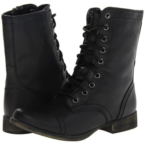 8f0e38c19b4b3 SKECHERS Starship Women's Lace-up Boots, Black ($53) ❤ liked on ...