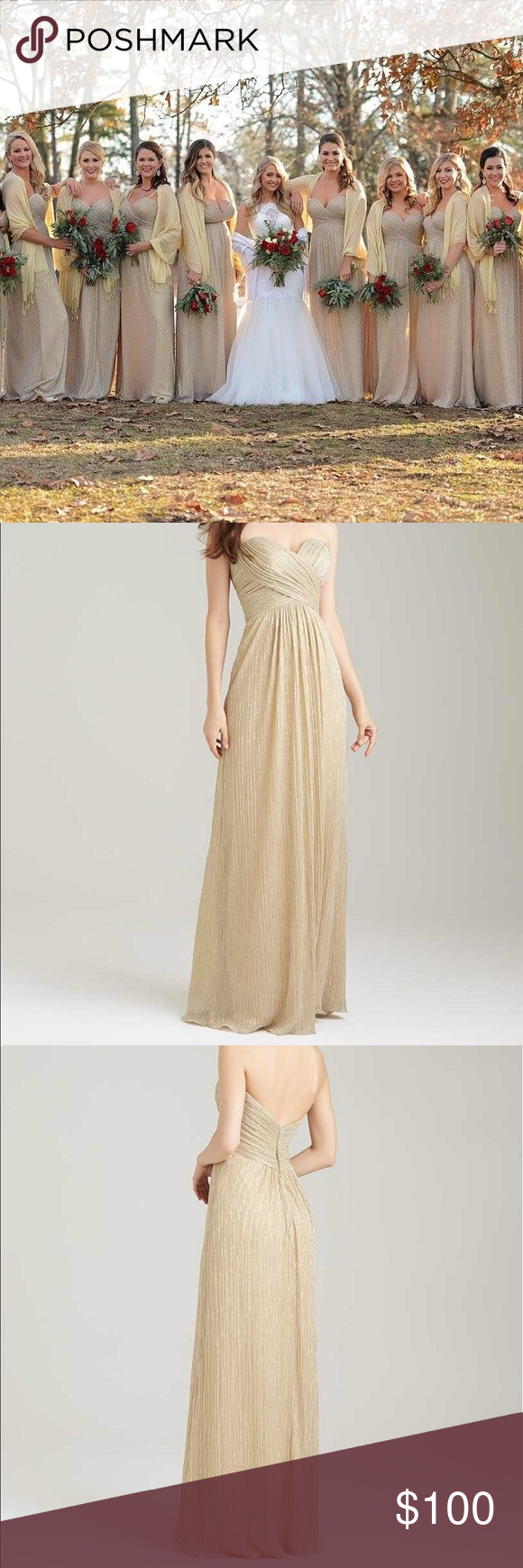 Allure gold bridesmaid dress allure gold shimmer bridesmaid dress allure gold bridesmaid dress ombrellifo Image collections