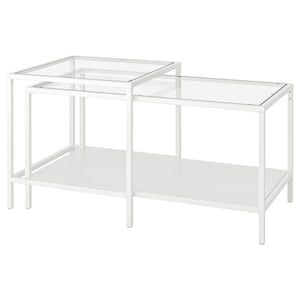 Vittsjo Satztische 2 St Weiss Glas Ikea Deutschland In 2020 Satztische Glaser Ikea Ikea