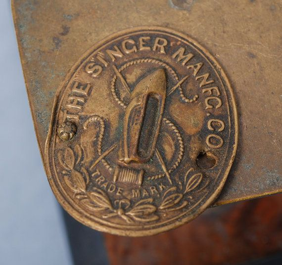 Vintage SINGER Sewing Machine label plate 1900s. (With images)