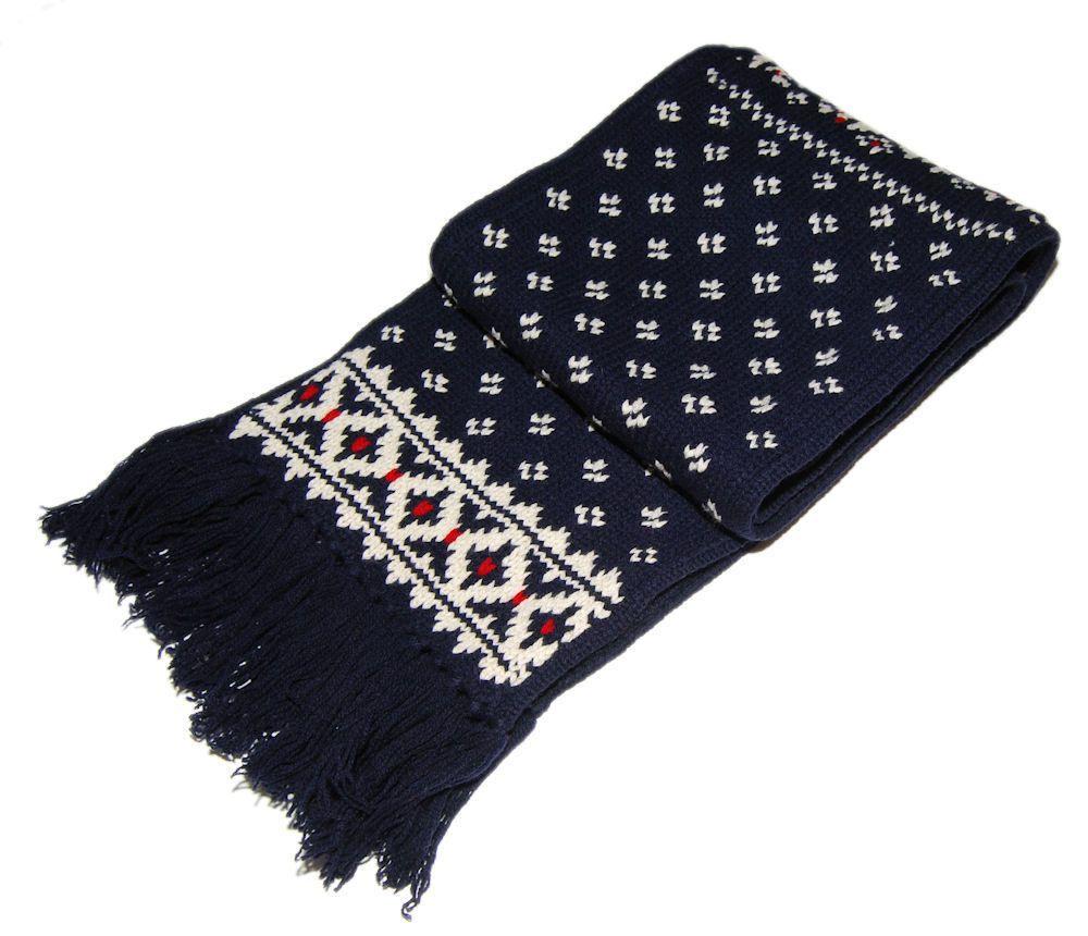 4d406e48304 eBay  Sponsored Polo Ralph Lauren Mens Womens Lambs Wool Lambswool Ski  Snowflake Scarf Navy Blue