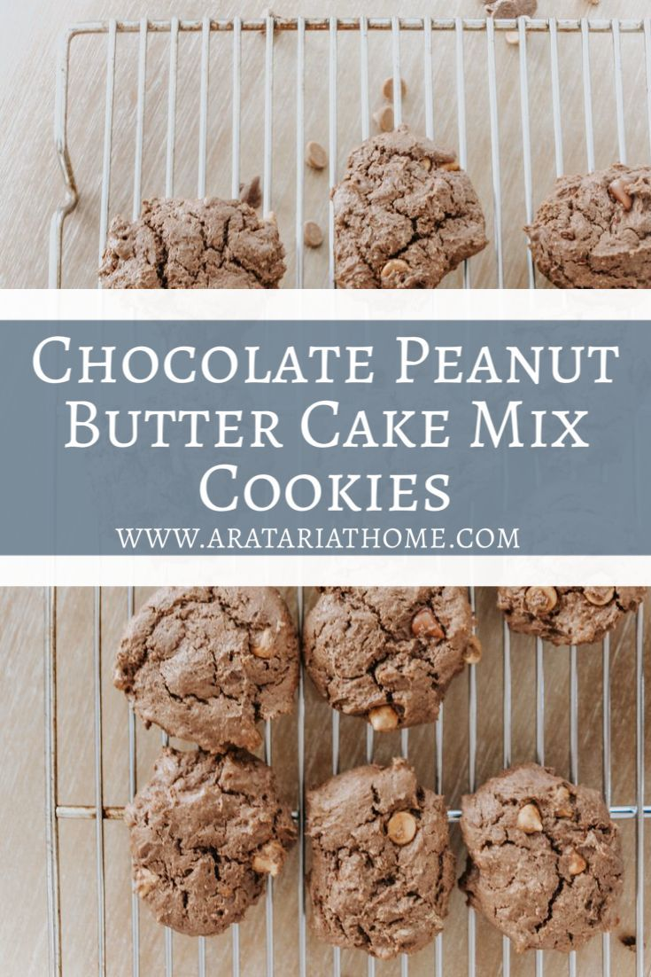 Chocolate and peanut butter cake mix cookies in 2020