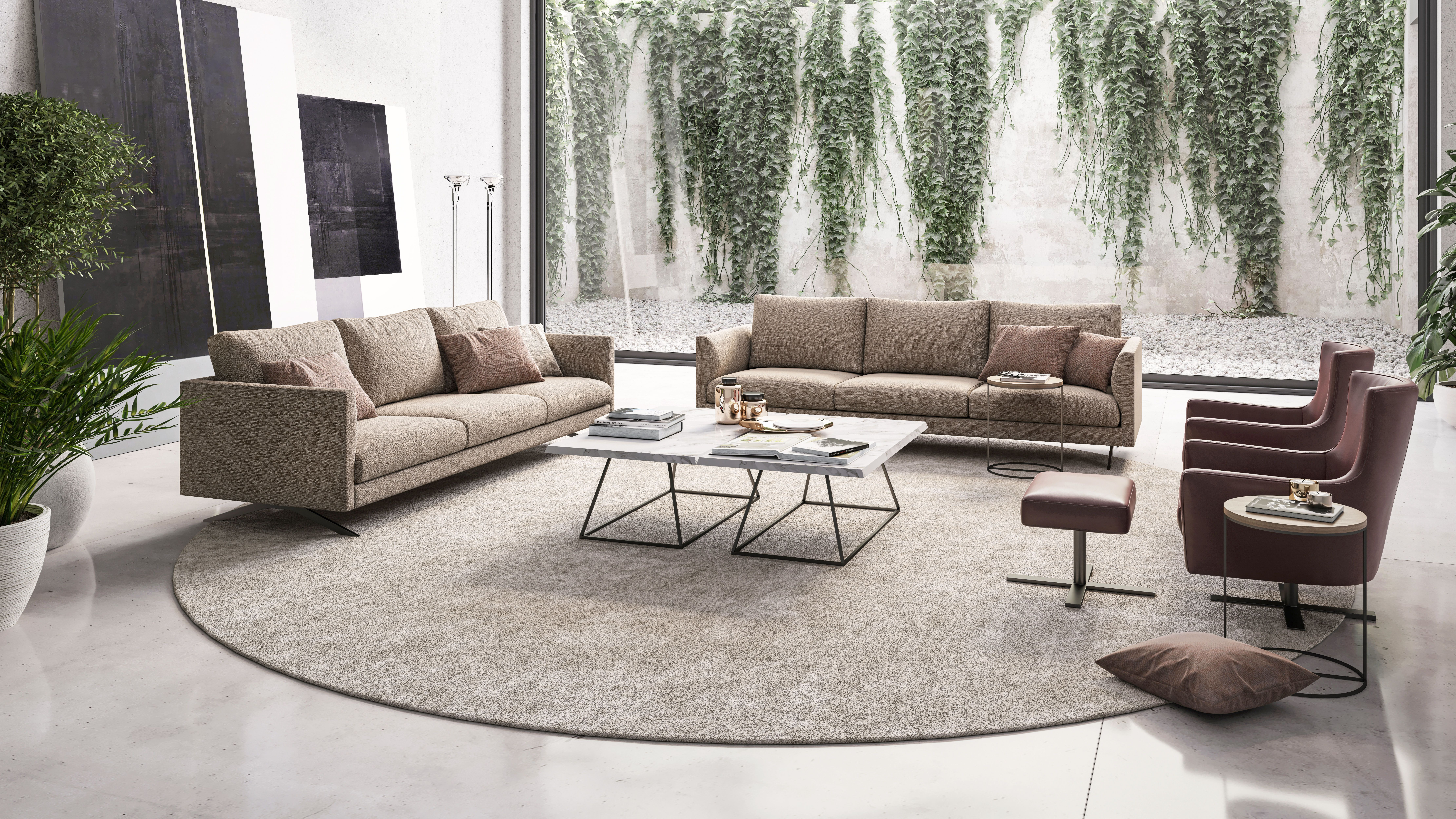 A Stylish Living Room Is One In Which Beautiful Furniture Plays The Main Role This Is How It I Stylish Living Room Marble Tables Living Room Elegant Furniture #stylish #living #room #furniture