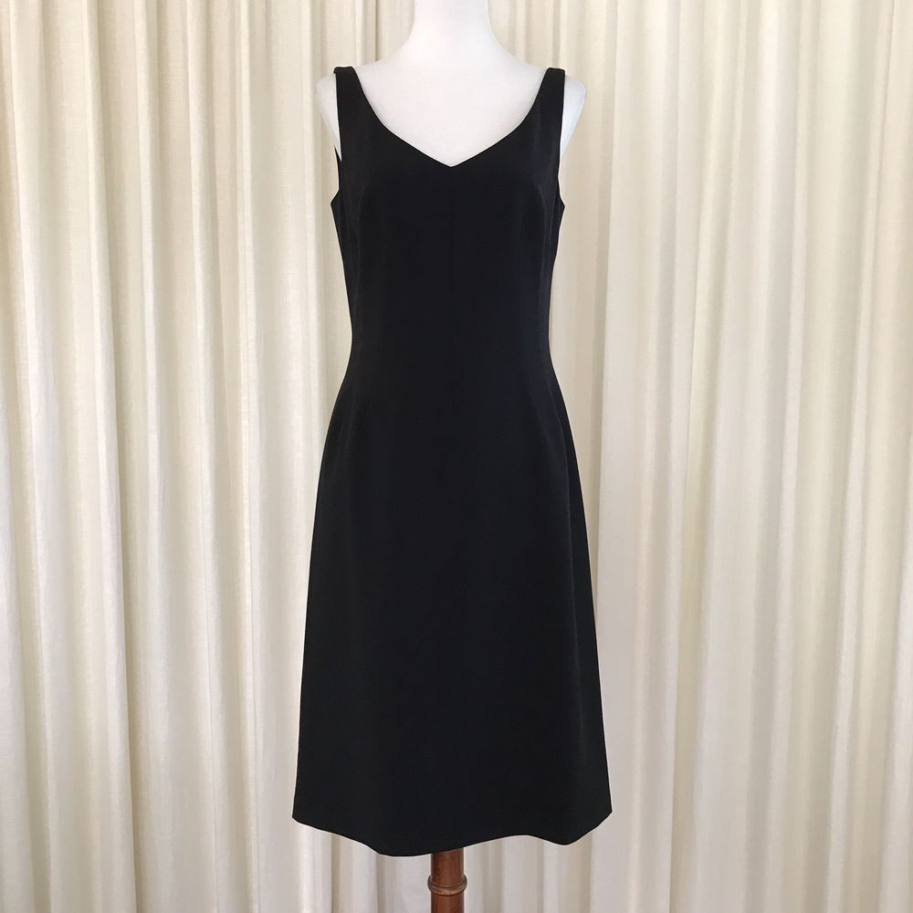 Style Sheath Features Zipper In Back Care Dry Clean Color Black Ebay Elie Tahari Dresses Tahari Dress Dresses [ 1000 x 1000 Pixel ]