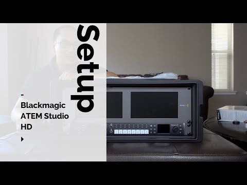 New 2017 Blackmagic Atem Television Studio Hd Setup Youtube Streaming Setup Setup Studio