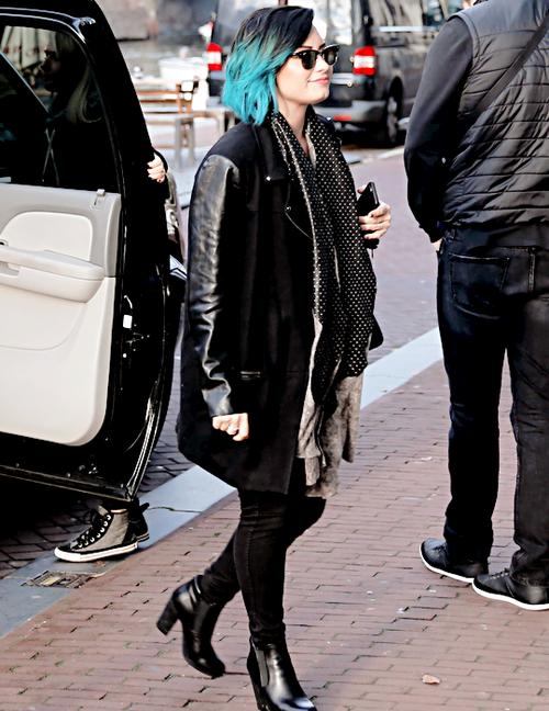 11/17/14 - Demi Lovato at the Anne Frank museum in Amsterdam