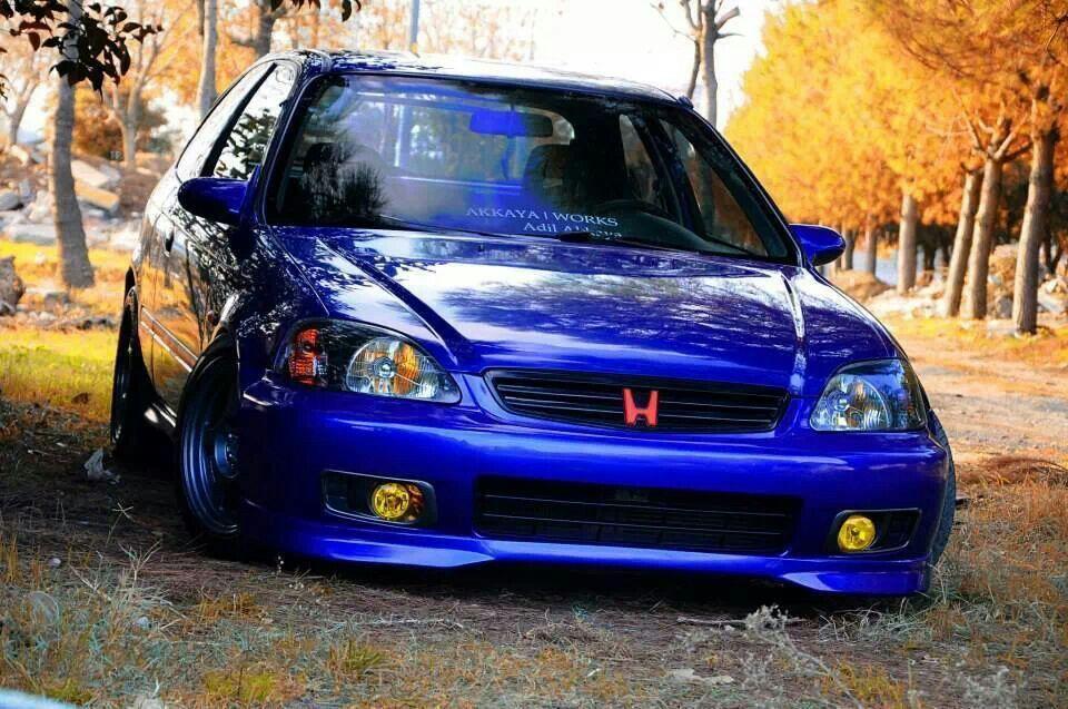 Blue Honda Civic Autos