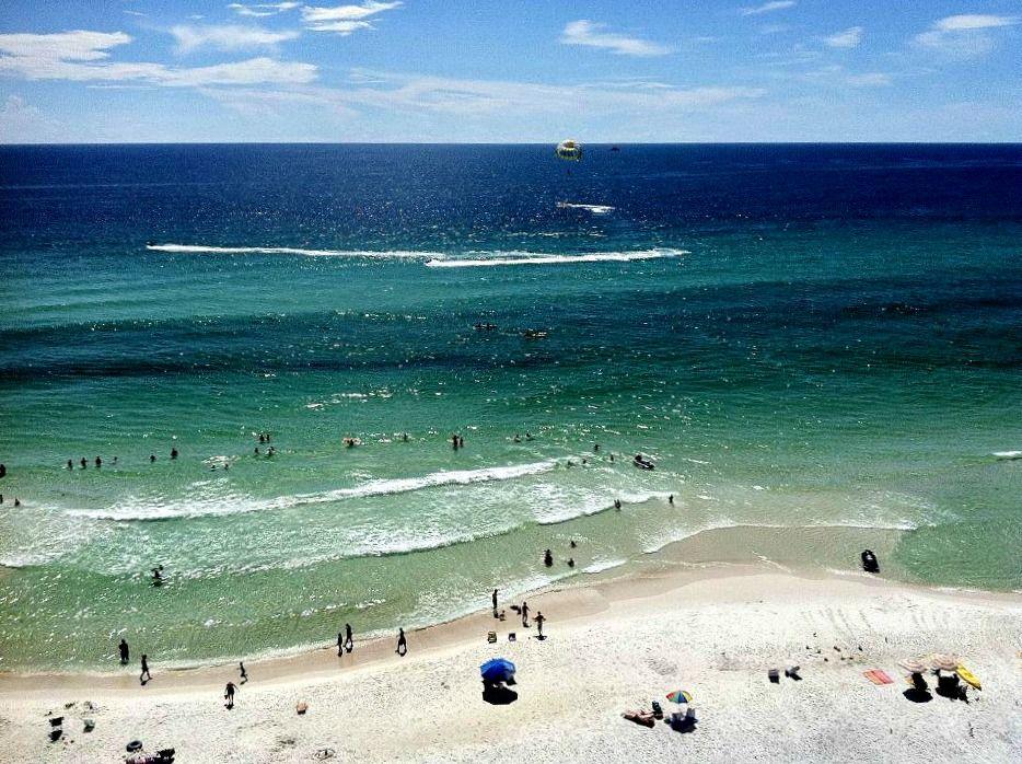 View Of The Beach And Gulf From Tidewater Beach Resort Panama City Beach Vacation Beach Resorts Panama City Panama