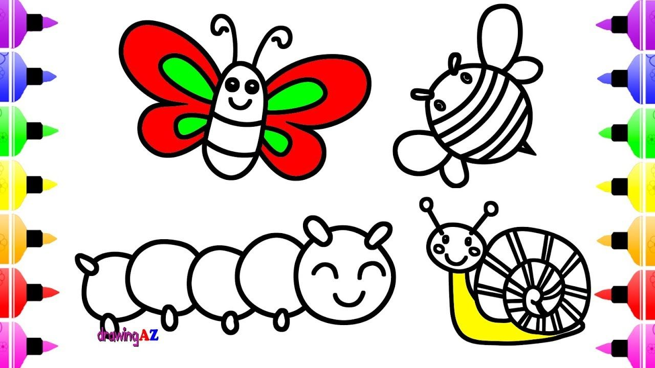 Insect Coloring Book for Kids & Coloring Pages for Children with ...