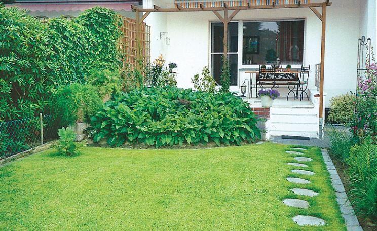 Ideen für einen Reihenhausgarten | Reihenhausgarten, Steinweg und ...