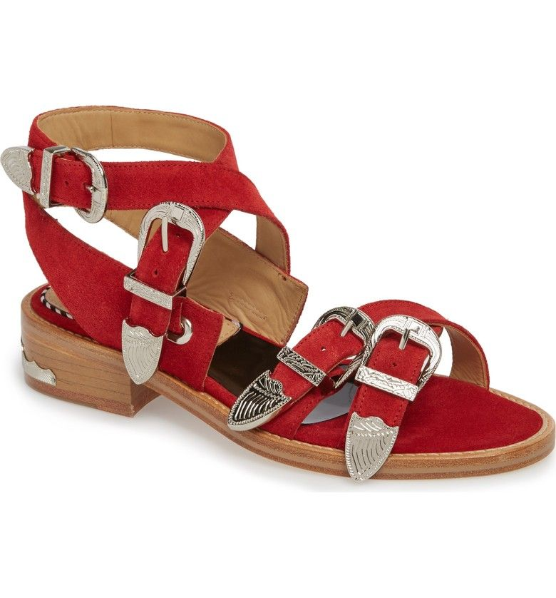 29ac876ebe3be8 Main Image - TOGA Pulla Western Suede Strappy Sandal (Women)