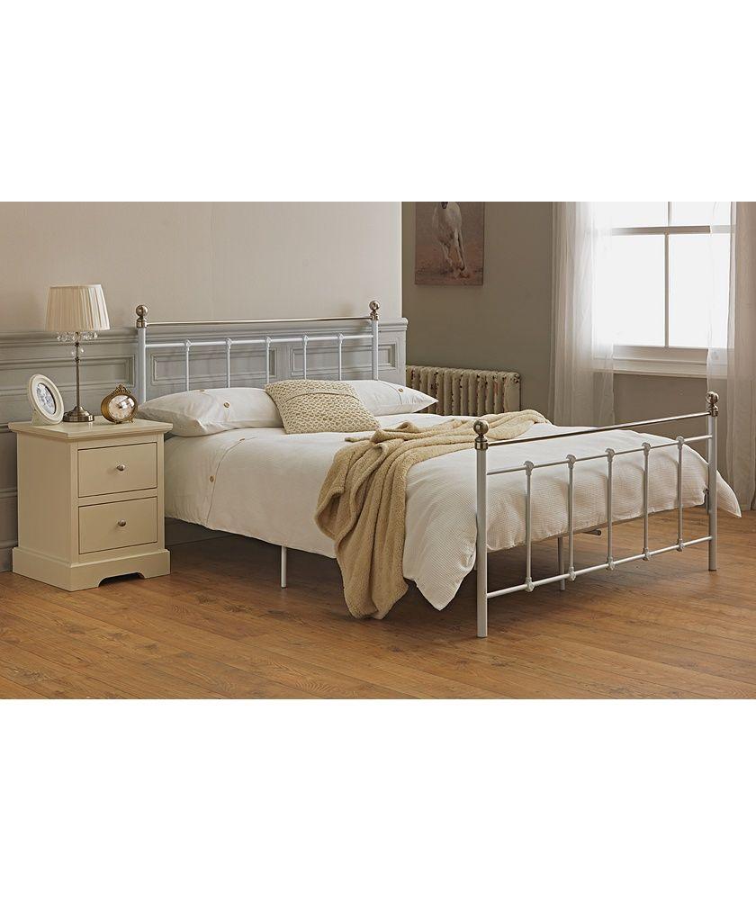 buy collection eversholt kingsize bed frame - white at argos.co.uk