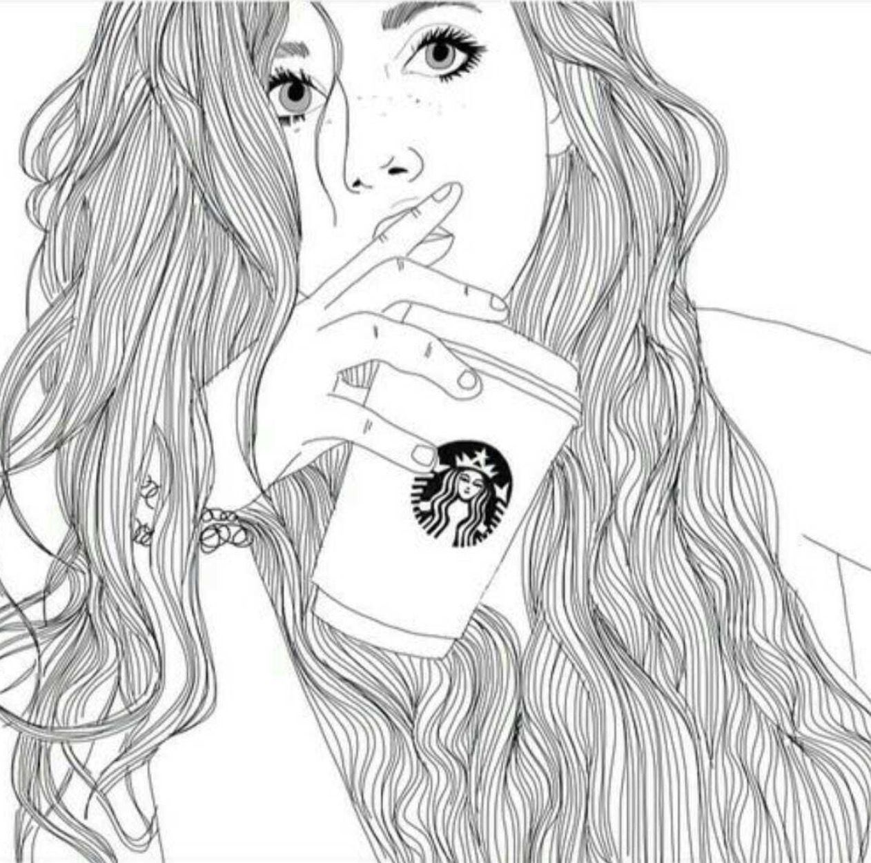 nike shoes tumblr girls drawing starbucks coffee 837786