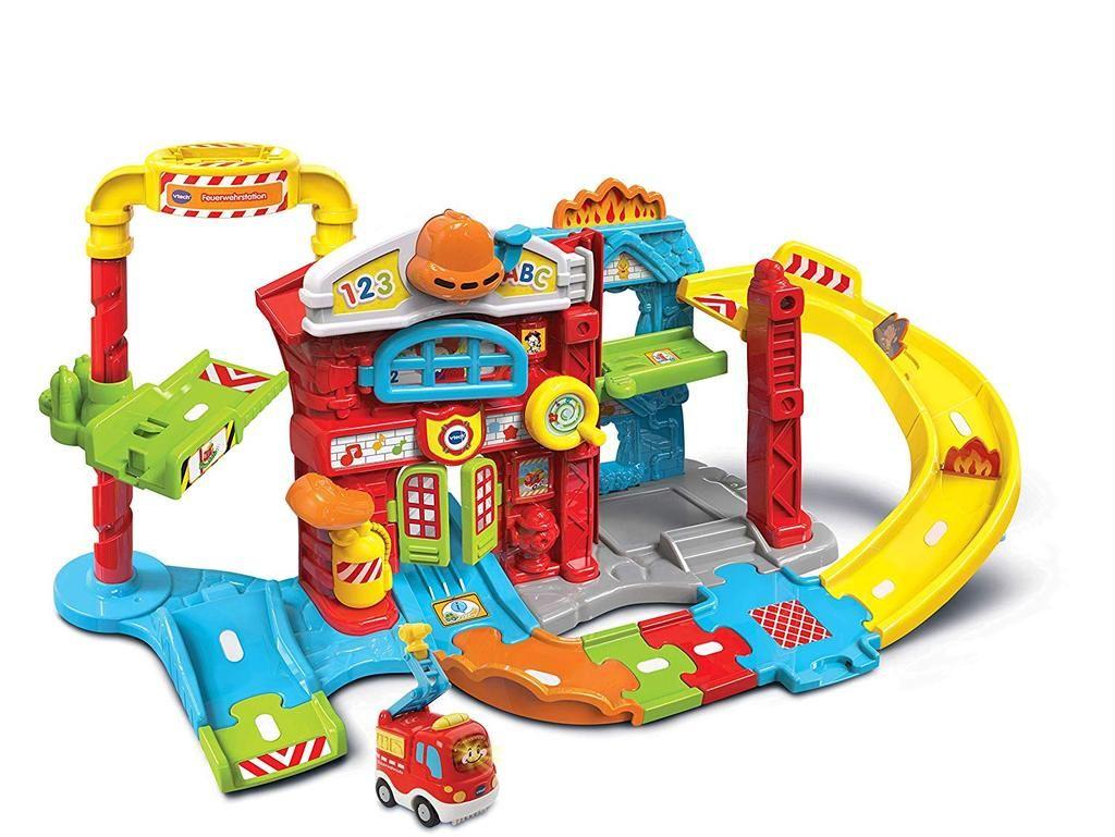 Vtech 80 503904 Tut Tut Baby Flitzer Feuerwehrstation Inkl Feuerwehrauto Toy Car Fire Station Playset