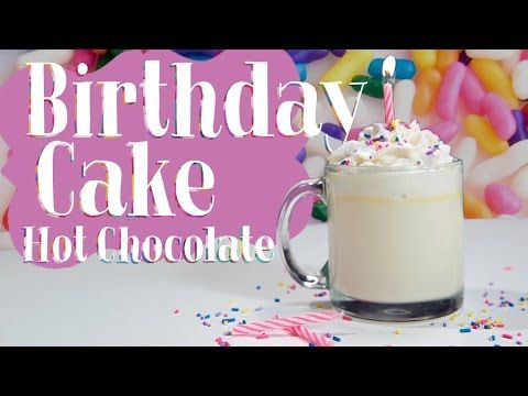 Are you ready for birthday cake hot chocolate Life is simply just