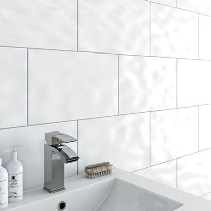 Clarity Bumpy White Gloss Tile 250mm X 400mm White Wall Tiles Bathroom Wall Tile Cheap Bathrooms