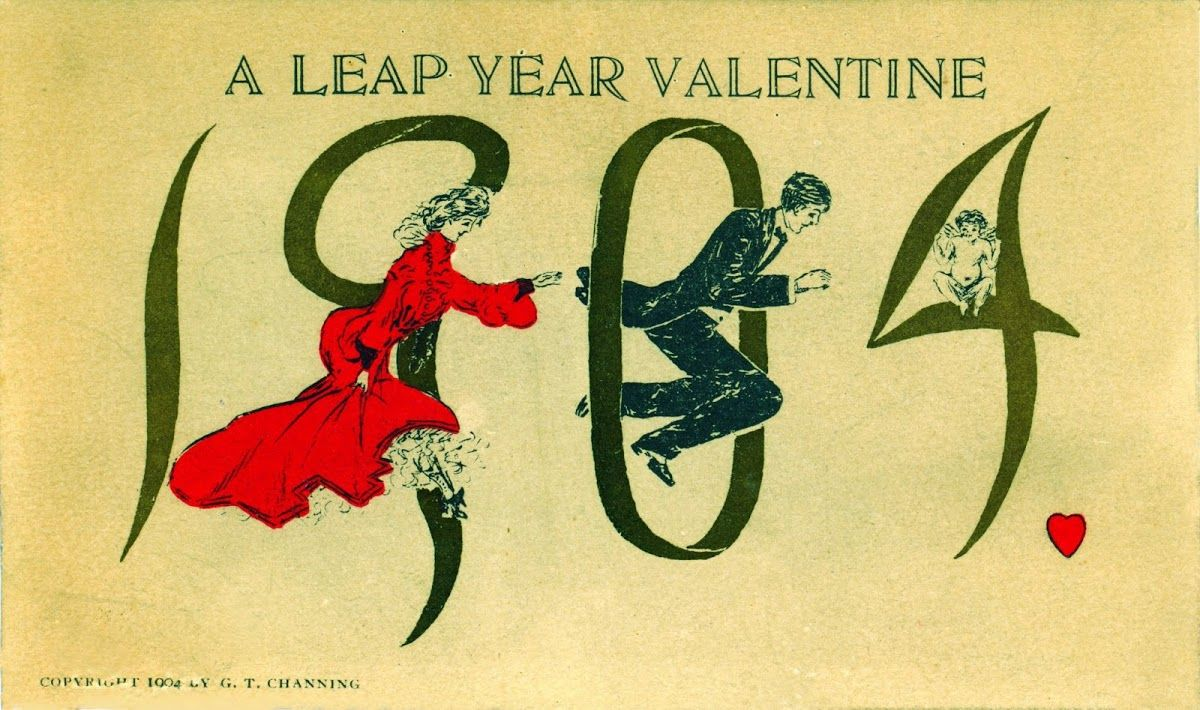 1904 A Leap Year Valentine Old Fashioned Romance Pinterest