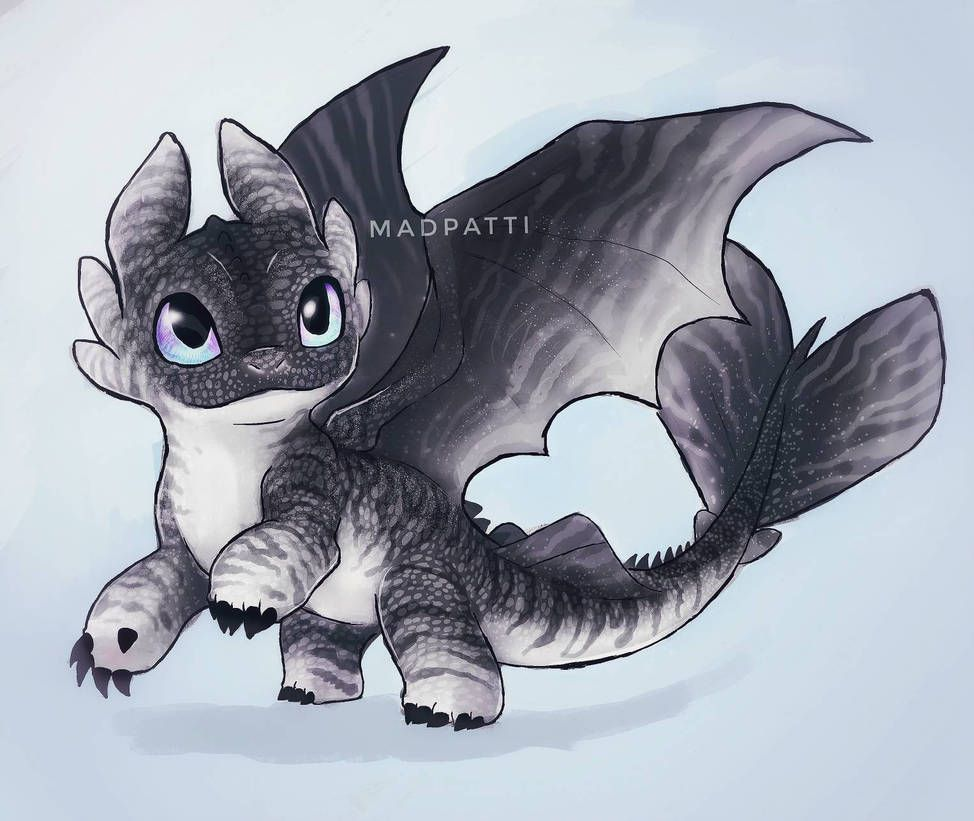 Night Light Baby Dragon Of Toothless And Light Fury How Train Your Dragon Cute Dragons Baby Dragons Drawing