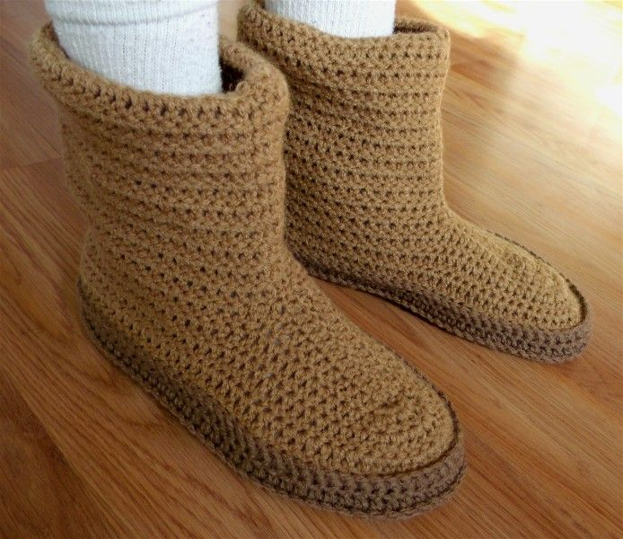 Crochet Lugg Boots Pattern Crochet Slipper Boot Instructions Knit