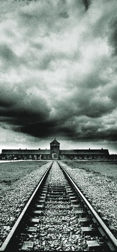 The infamous entrance to Auschwitz/Birkenau Concentration Camp.