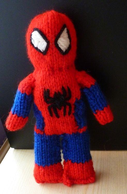 Free Spiderman Knitting Patterns : Free Spiderman knitting pattern Knitting Pinterest Spiderman, Knitting ...