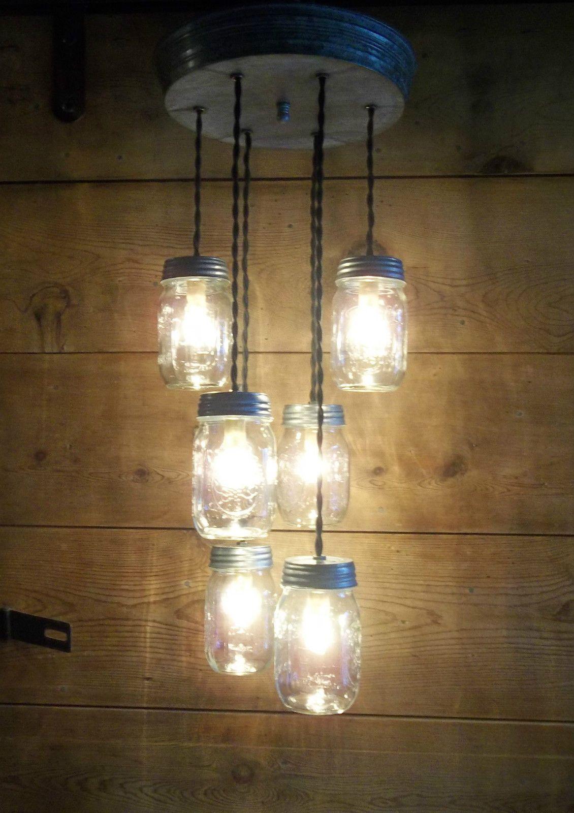BALL Mason Jar Light Fixture Rustic Country