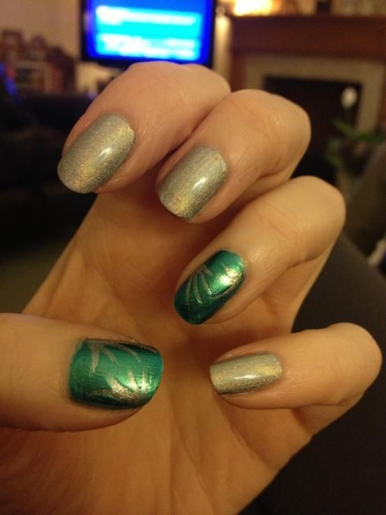 Gosh Holographic Hero And Ocean With Models Own Nail Art Pen In