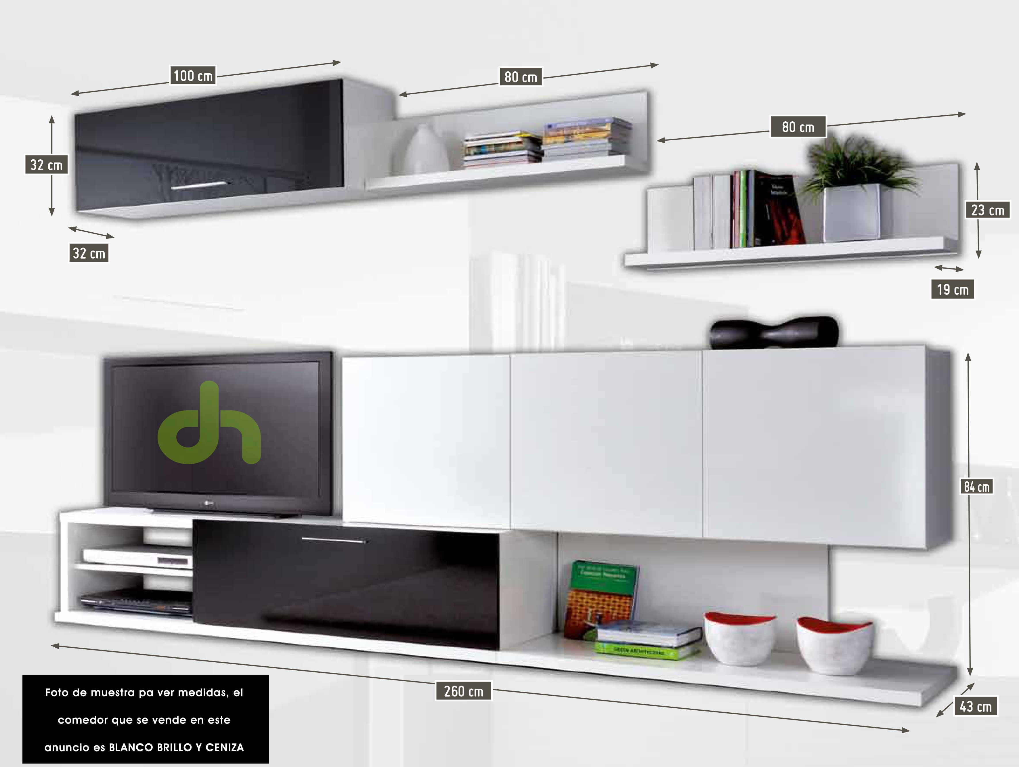 Medidas mueble de tv buscar con google muebles para for Medidas muebles