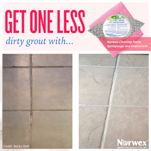 want to get rid of dirt and mildew from your dingy grout