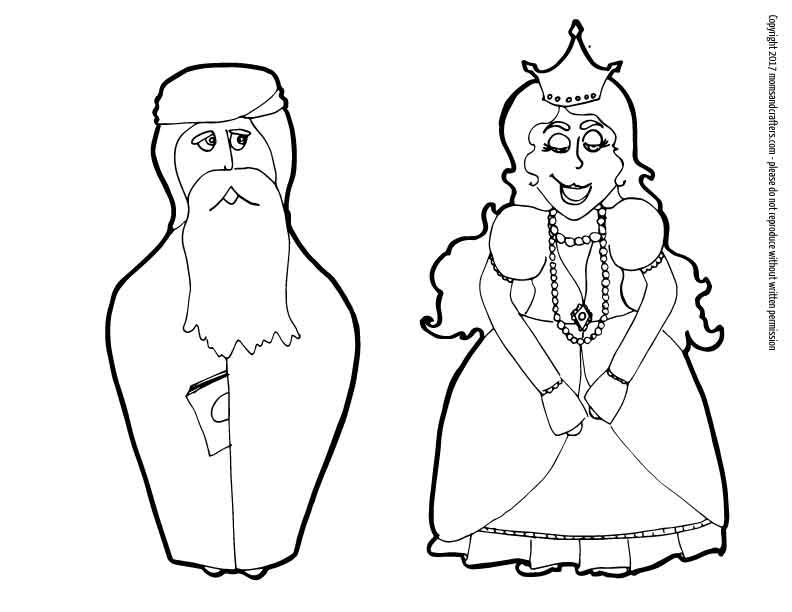 Purim Puppets Download Coloring Pages For Kids Happy Purim
