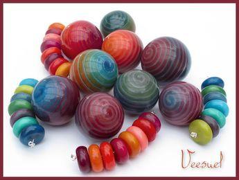 Veesuel Vee Vortex Beads Polymer Beads Colliers Pinterest