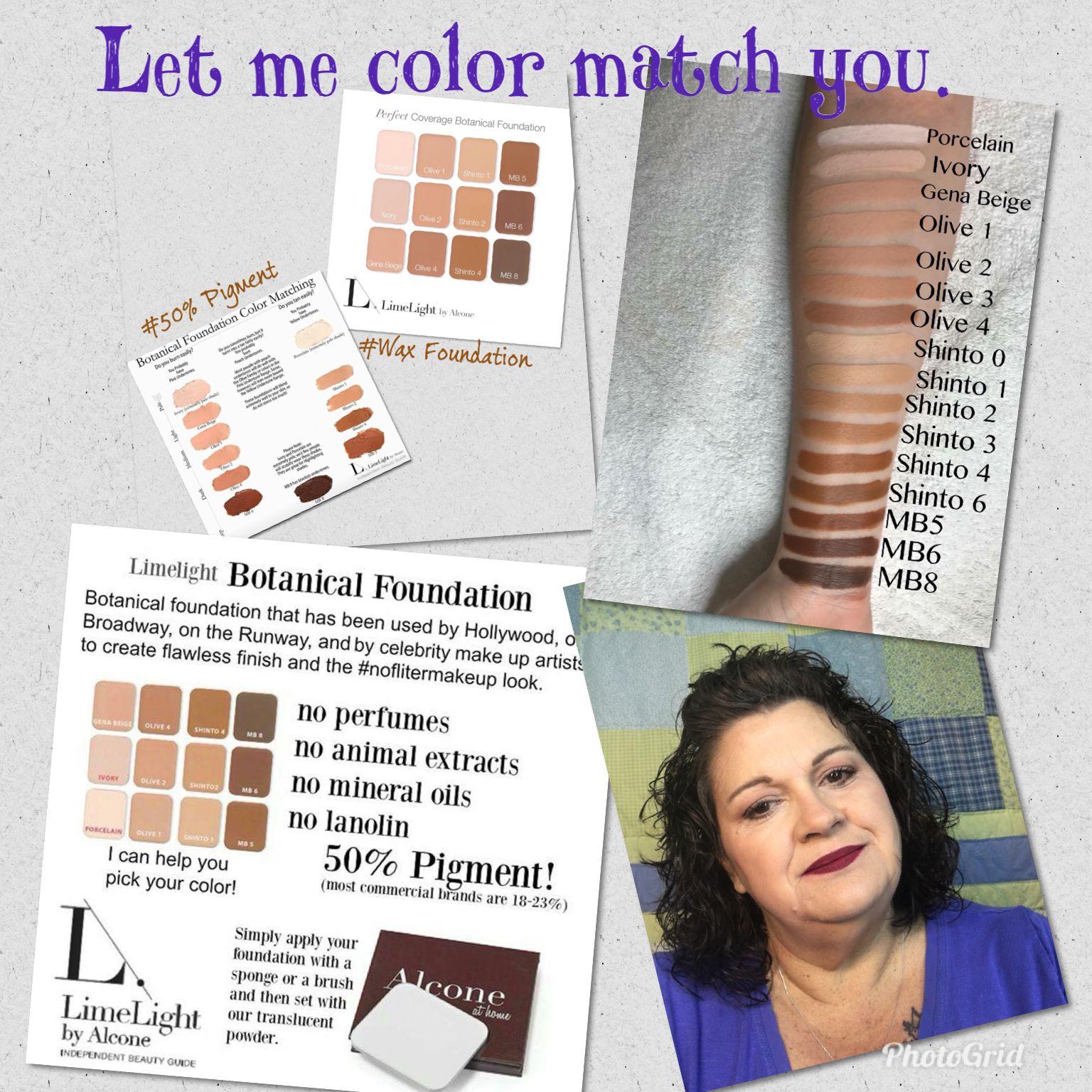 Color match your foundation Limelife Botanical