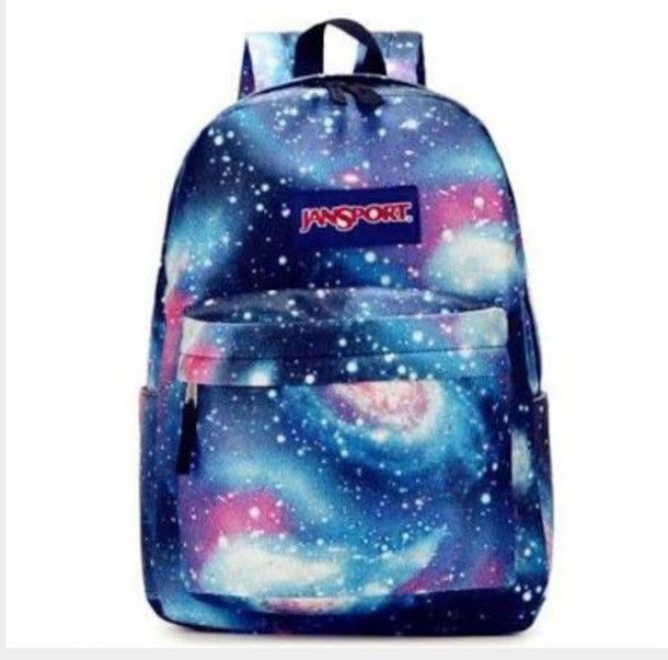 e67633b4416f Galaxy backpacks are very cute. Nice galaxy printed  bag