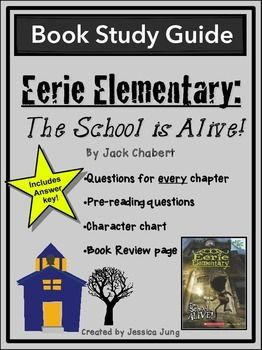 This is a chapter-by-chapter study guide for Eerie Elementary: The School is Alive!, by Jack Chabert.Included in this packet you will find:*A Character Counts chart for your students to fill in as they read and learn more information about the characters in the story.