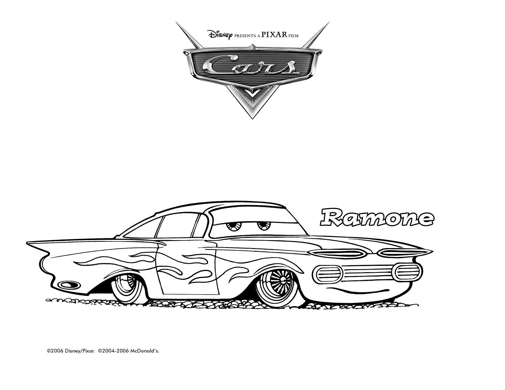 2006-Coloring-Ramone.jpg (1650×1275)   Chevrolet logo ...