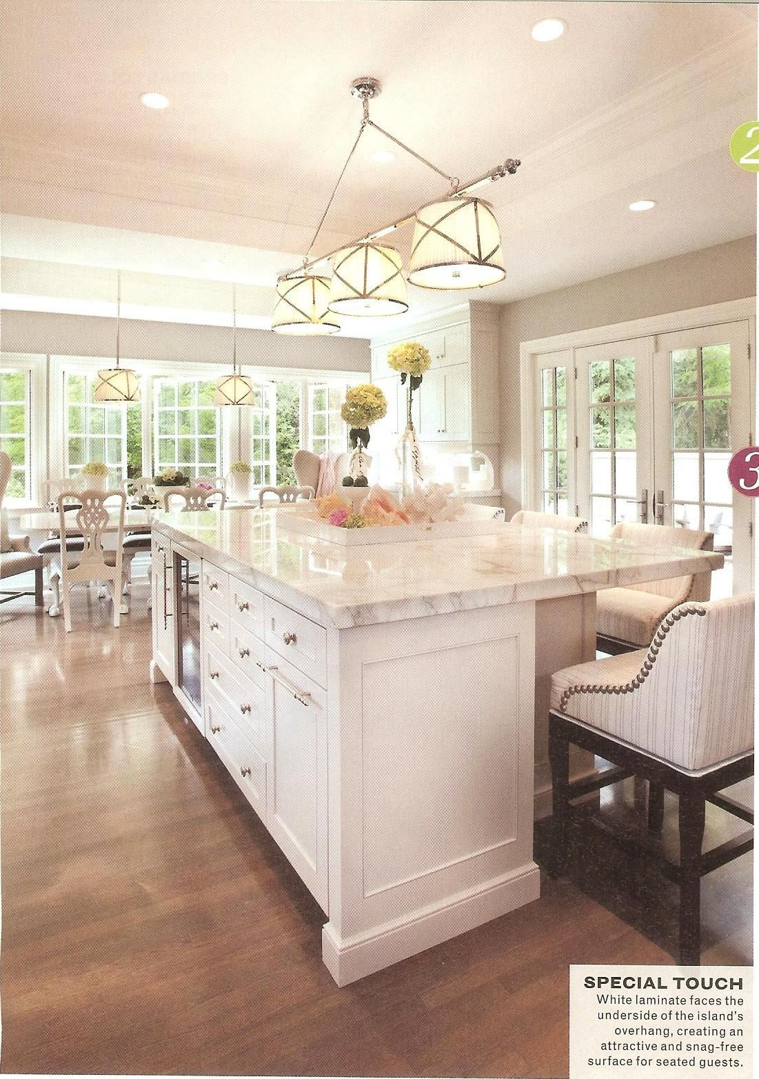 The paint on the cabinets is light pewter from benjamin moore pamela jensen similar right