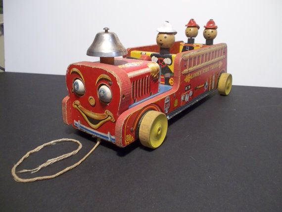 1950 Fisher Price Antique Looky Fire Truck No7 By