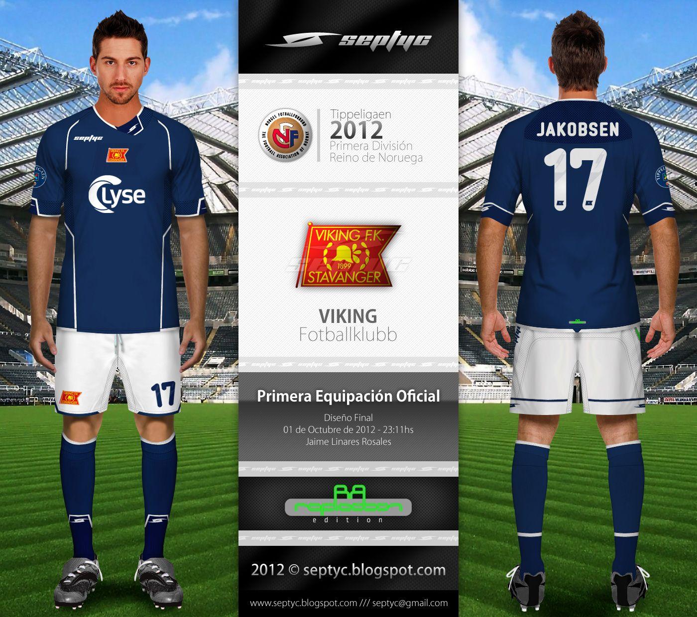 Viking FK Stavanger of Norway home kit 2012.  1b7761f54