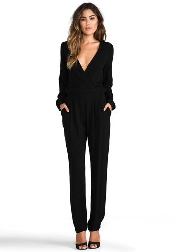 4ccddd165c5 TWELFTH STREET BY CYNTHIA VINCENT Reckless Daughter Long Sleeve Jumpsuit in  Black - Rompers   Jumpsuits