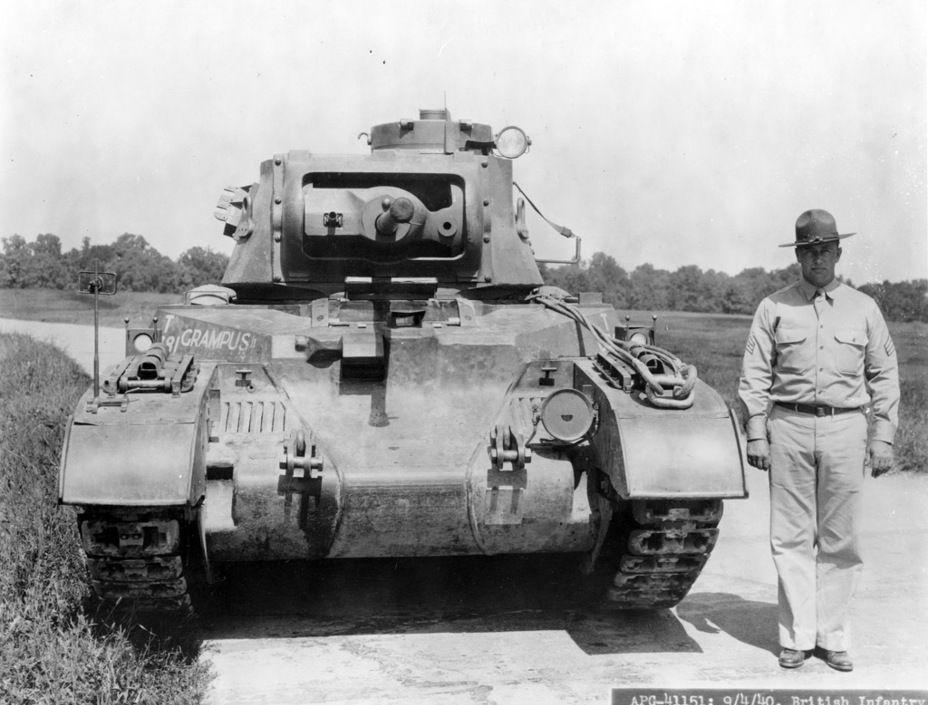 A12 Infantry Tank Mark Ii Matilda Iia   On Tests In Usa