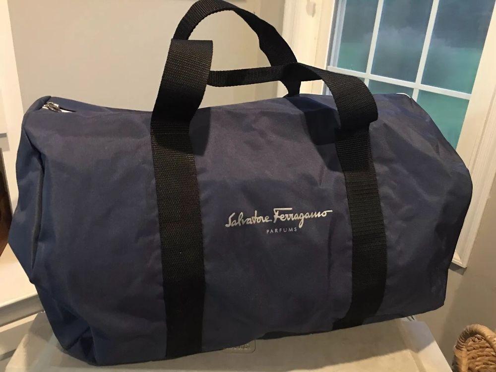 d51bb0b21910 SALVATORE FERRAGAMO Men Duffle Bag Weekender Gym Travel Overnight NAVY BLUE   fashion  clothing  shoes  accessories  mensaccessories  bags (ebay link)