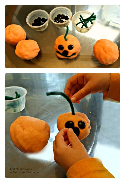 Play Dough Jack-O-Lanterns Halloween Activity Contributed by And - halloween party ideas for preschoolers