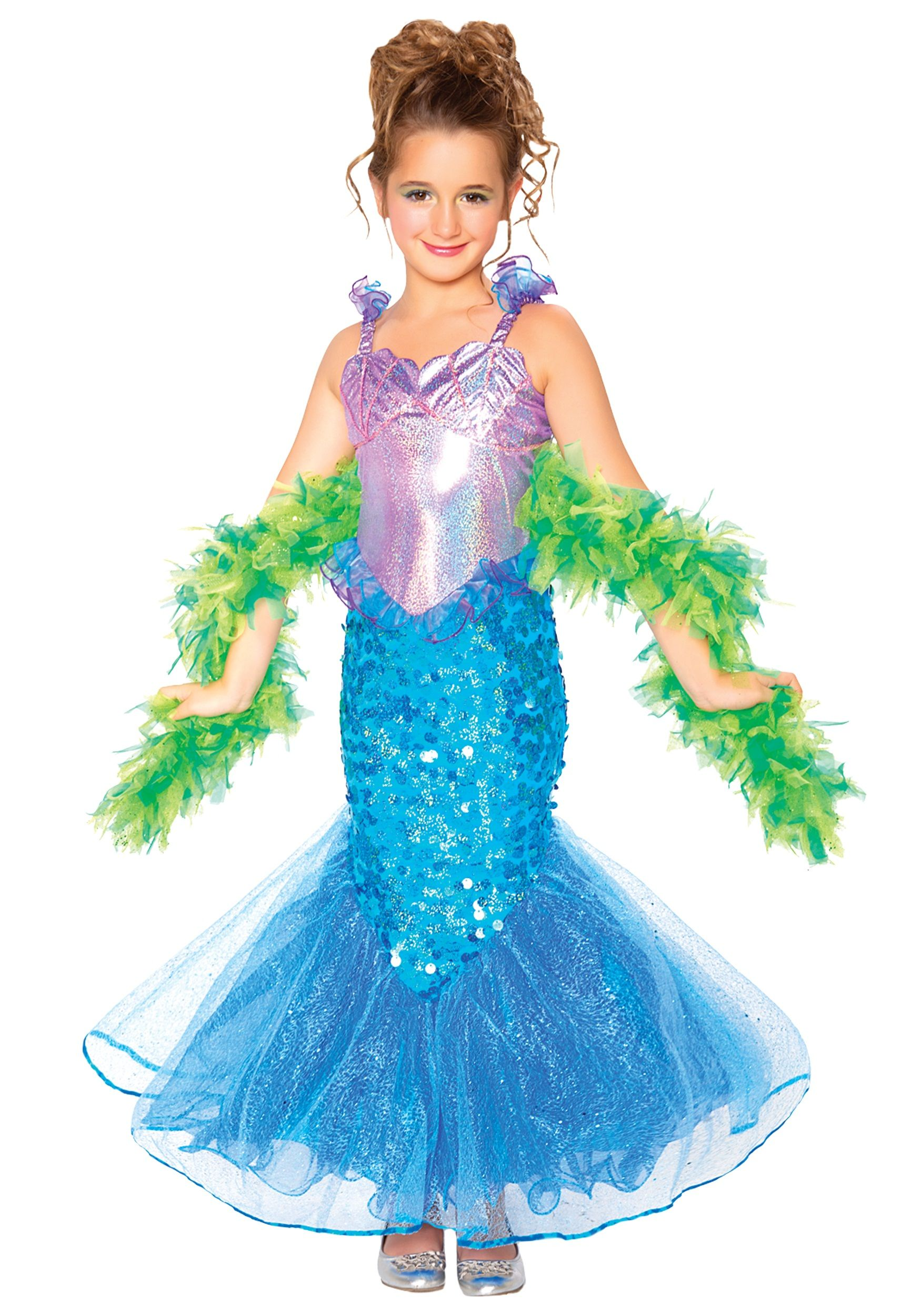Girls Mermaid Costume | Halloween | Pinterest | Girls mermaid ...